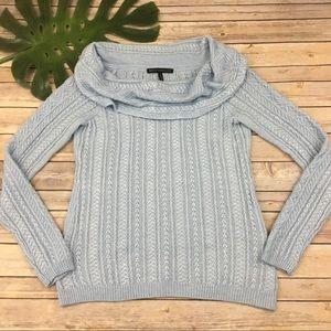 WHBM light blue cowl neck soft sweater